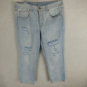 AEO Boy Crop 100% Cotton Button Fly Jeans Size 12